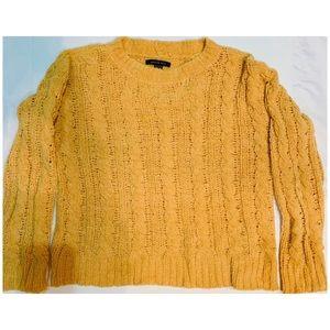 American Eagle Chenille Mustard Sweater